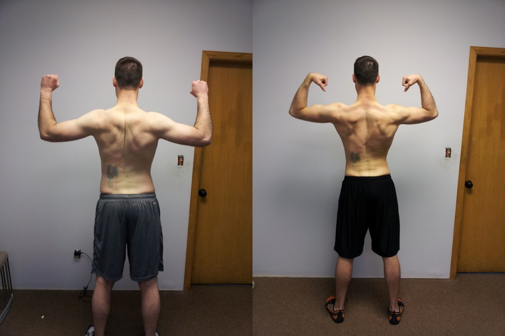 mike before and after back.